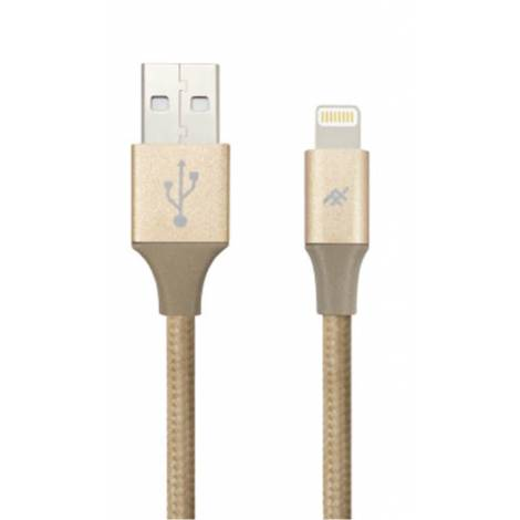 iFrogz-Uniquesync Premium-Nylon Braided Lightning Cable 1,5m Gold  IFUSLC-GD1