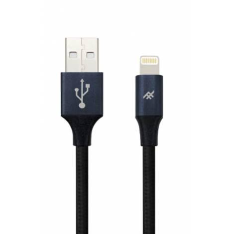 ifrogz - Uniquesync Premium - Nylon Braided Lightning Cable 3m  BLACK  IFUSLC-BK3