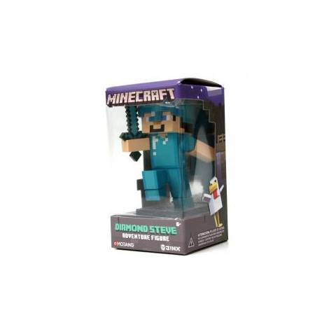 Jinx Minecraft 10cm Diamond Steve Vinyl Adventure Figure