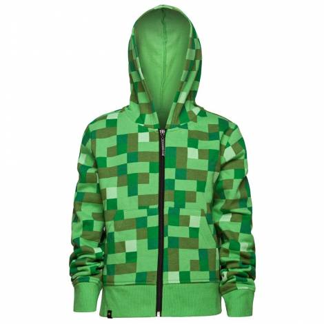Jinx Minecraft Creeper No Face Zip-up Youth Hoodie