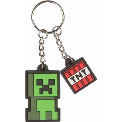 Jinx Minecraft Creeper Sprite Rubber Keychain
