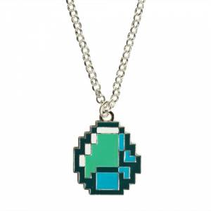 Jinx Minecraft Diamond Pendant Necklace (επάργυρο κράμα)
