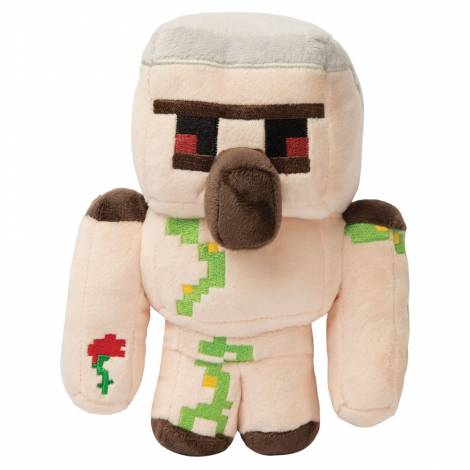 Jinx Minecraft Happy Explorer Iron Golem 17.8 cm Plush with Hangtag