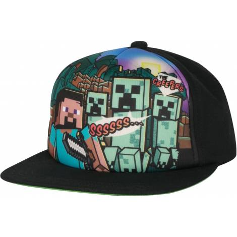 Jinx Minecraft Steve Overworld Snap Back Hat (8210)