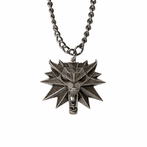 Jinx Witcher Medallion and Chain Necklace (magnesium metal alloy)