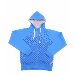 Joystick Junkies Blue Pixel Print Zip Hoodie