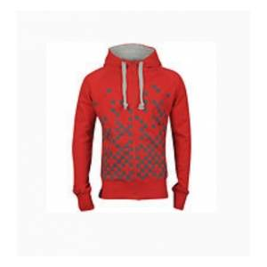 Joystick Junkies Red & Grey Pixel Print Hoodie