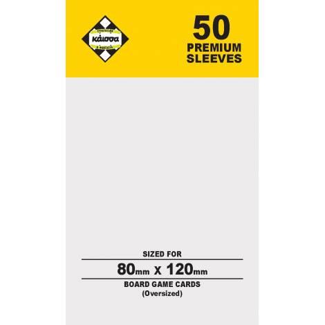 Κάισσα – Premium Sleeves 80x120 (Oversized) (50 sleeves)