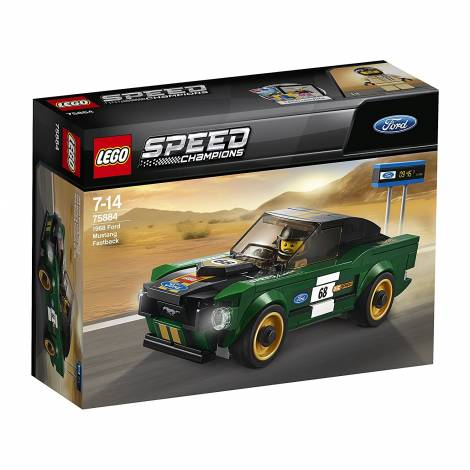 LEGO  Speed Champions - 1968 Ford Mustang Fastback (75884) - με πιεσμένο κουτάκι