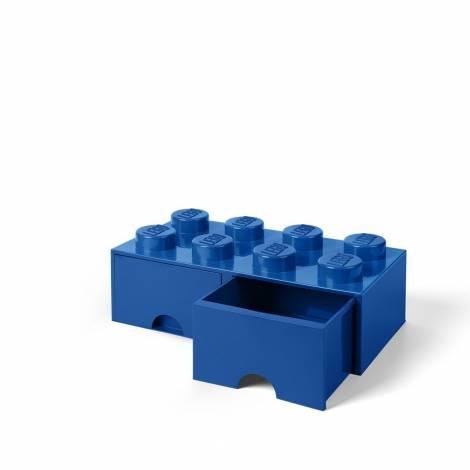 LEGO Storage Brick 8 Drawer Blue (12.5 x 12.5 x 18 cm)