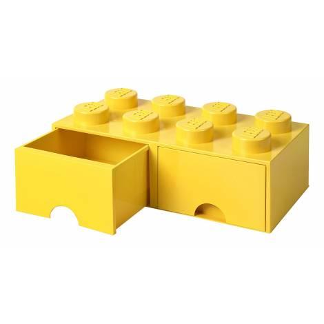 LEGO Storage Brick 8 Drawer Yellow (12.5 x 12.5 x 18 cm)