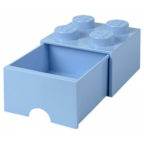 LEGO Storage Brick Drawer 4  Light Royal Blue (12.5 x 12.5 x 18 cm)