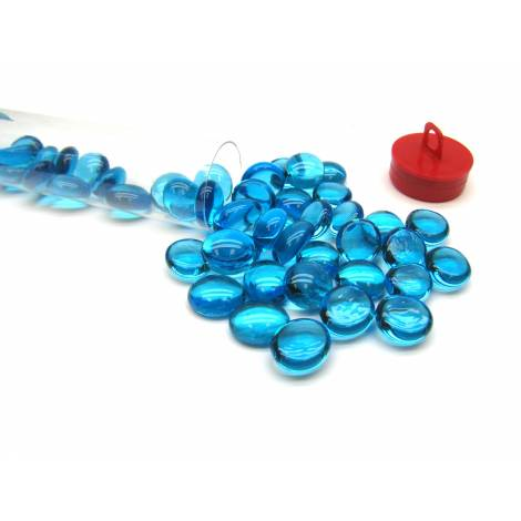 Light Blue Glass Stones (40) 4 Tube