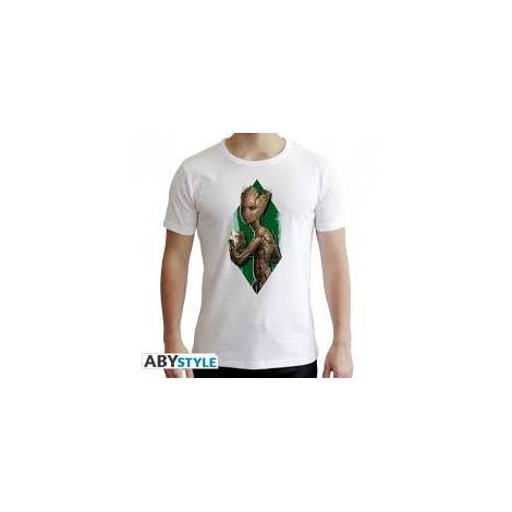 Marvel - Teen Groot - Man White T-shirt - Size (XS,S,M,L,XL,XXL)