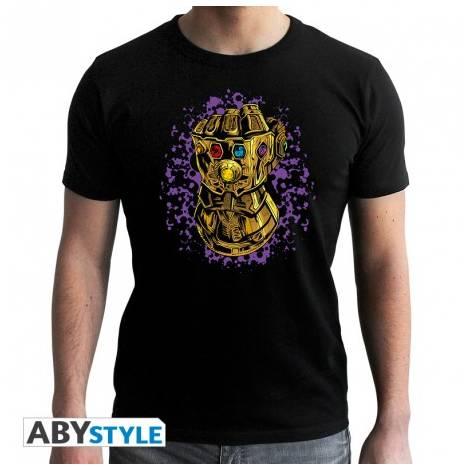Marvel - Thanos Infinity Gauntlet - Man Black T-shirt - Size (XS,S,M,L,XL,XXL)