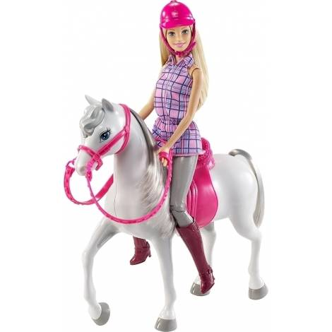 MATTEL BARBIE DOLL - BARBIE & HORSE (DHB68)