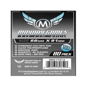 Mayday Sleeves 66x91 80 Pack - Black