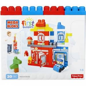 MEGA BLOKS FIRST BUILDERS - RESCUE SQUAD (FIRE STATION) (CNG25)