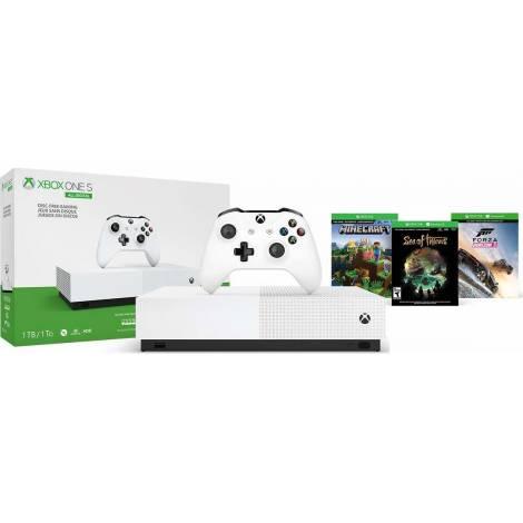 Microsoft Xbox One S 1TB All-Digital Edition (Minecraft + Forza Horizon 3 + Sea of Thieves)