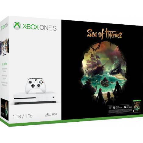 Microsoft Xbox One Console S White 1TB & Sea of Thieves (XBOX ONE)