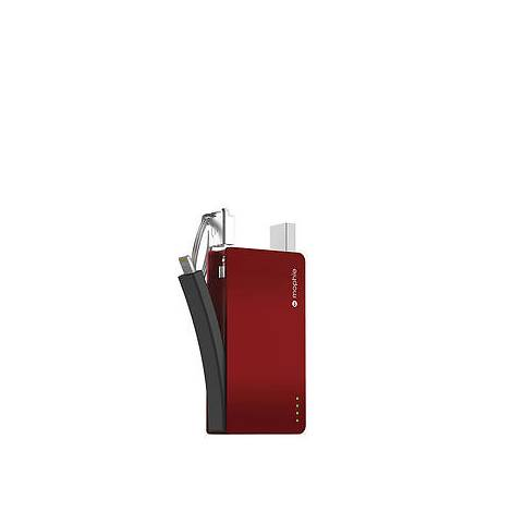 mophie Power Reserve with Lightning Connector (1,300mAh) MFI - red