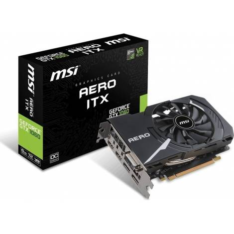MSI VGA PCI-E NVIDIA GF GTX 1060 AERO ITX 6G OC