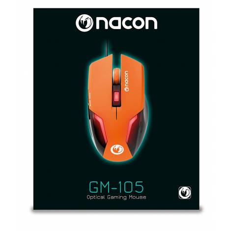NACON Gaming Mouse, Orange, 2400 DPI (PCGM-105ORANGE)