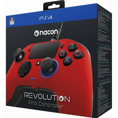Nacon Revolution Pro Controller Red (PS4) & Δώρο Thump Grips