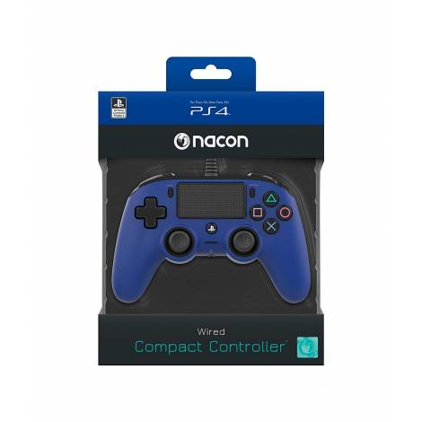 Nacon Wired Compact Controller, Blue (PS4) & Δώρο Thump Grips