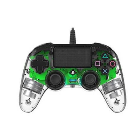 Nacon Wired Controller Crystal Green (PS4) & Δώρο Thump Grips
