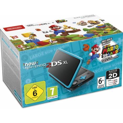 Nintendo 2DS XL Black & Turquiose & Super Mario 3D Land (NINTENDO 2DS)
