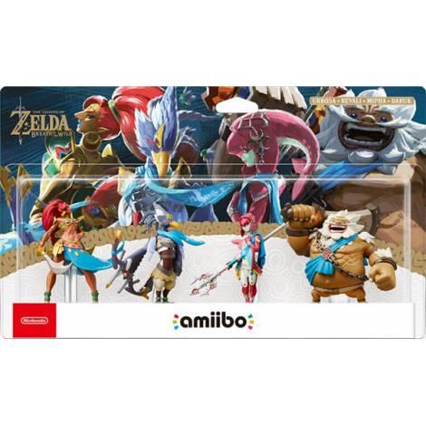 Nintendo Amiibo Zelda - Breath Of The Wild : Champions Figures 4 Pack