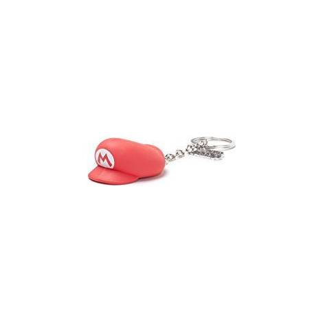Nintendo - Mario Hat 3D Rubber Keychain (KE800516NTN)