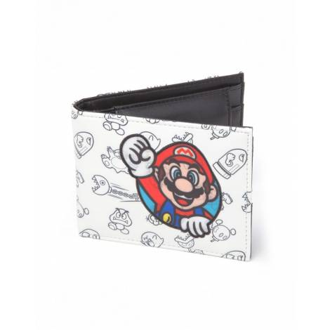 Nintendo - Super Mario Allover Print Bifold Wallet (MW060205NTN)