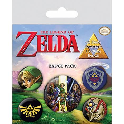 Nintendo - The Legend Of Zelda Badge Pack (BP80530)