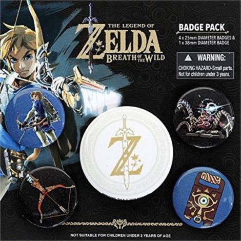 Nintendo - The Legend of Zelda: Breath Of The Wild (Z Emblem) Badge Pack (BP80598)