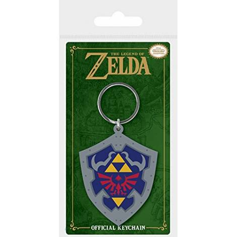 Nintendo - The Legend Of Zelda (Hylian Shield) Rubber Keychain (RK38698C)