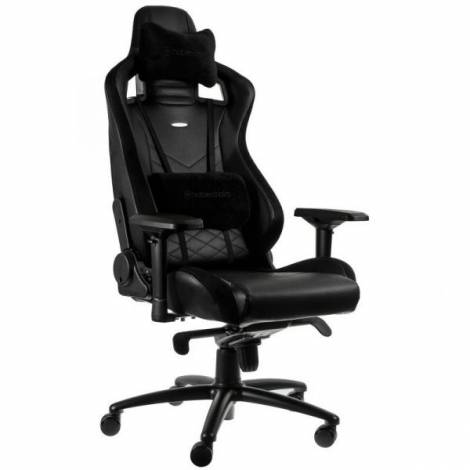 NOBLECHAIRS EPIC GAMING CHAIR BREATHABLE, 4D ARMRESTS, 60MM CASTERS – BLACK