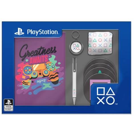 Numskull PlayStation - Notebook, Pen, Keychain, Socks, Coasters Gift Box