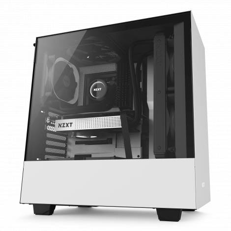 NZXT H500 Matte White - Tempered Glass