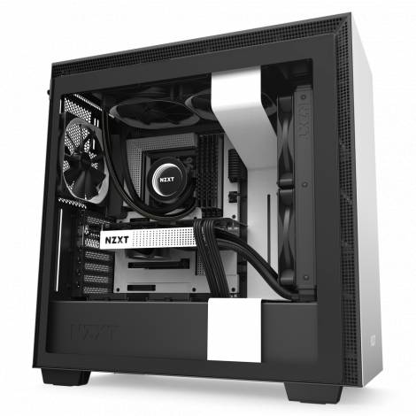NZXT H710 WHITE- Tempered Glass - 272mm EATX PC Case