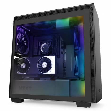 NZXT H710i BLACK- Tempered Glass - 2nd Gen Smart - RGB Leds - Vertical GPU Mount - 272mm EATX Case