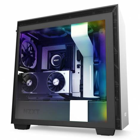 NZXT H710i WHITE- Tempered Glass - 2nd Gen Smart - RGB Leds - Vertical GPU Mount - 272mm EATX Case