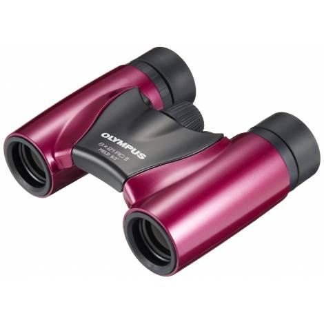 Olympus 8 x 21 RC II Binoculars - Metal Magenta (N3852492) και θήκη