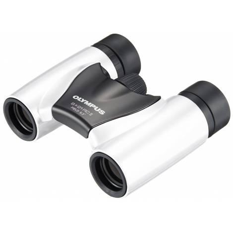 Olympus 8 x 21 RC II Binoculars - Pearl White (N3852392) και θήκη
