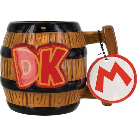 Paladone Nintendo - Donkey Kong Barrel Shaped Ceramic Mug (pp4008nn)