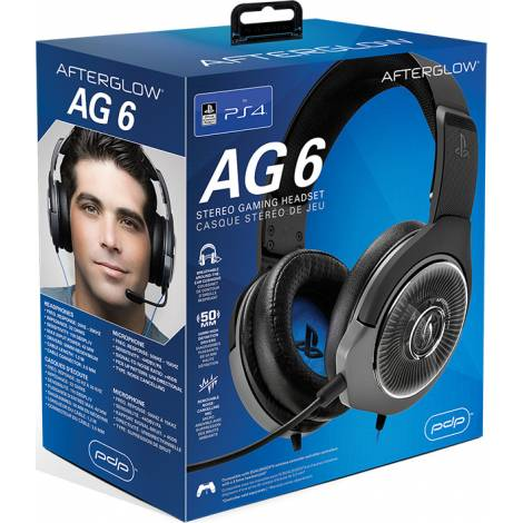 PDP Afterglow AG6 Stereo Gaming Headset for PS4 Black (051-077-EU-BK)