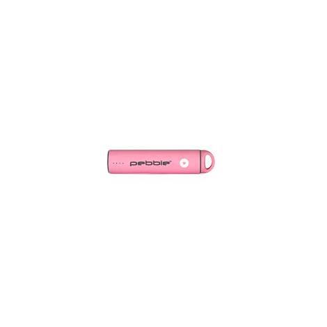 Pebble Powerstick Portable Rechargeable Power Bank 2600mah - Pink (VPP-301-BCN-P)