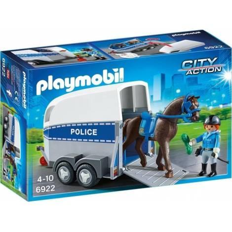 Playmobil Τρέιλερ μεταφοράς αλόγου Αστυνομίας (6922)