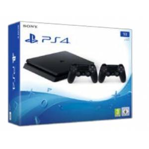 Sony PlayStation 4 1TB Slim Console + 2o DUALSHOCK 4 (PS4)